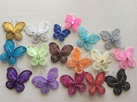 Butterfly Decor by 12 Pcs Organza Butterflies Wedding Butterfly