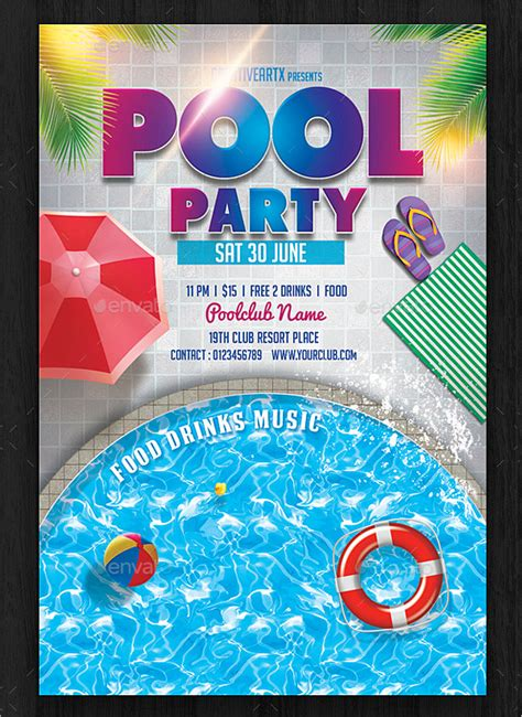 21 pool party invitations free psd vector ai eps