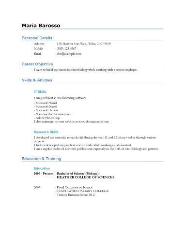 U Of T Resume Template by 17 Best Ideas About High School Resume Template On