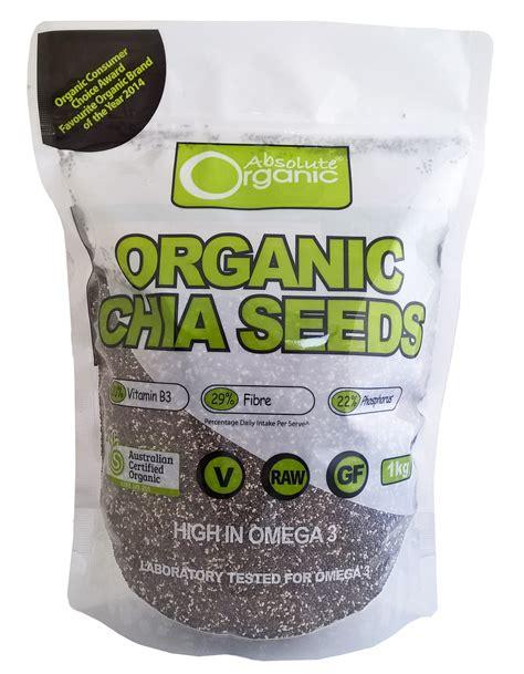 absolute organic chia seeds 1kg eco farms