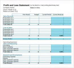 Profit And Loss Free Template by Profit Loss Statement Template Helloalive