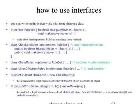 java interfaces abstract classes