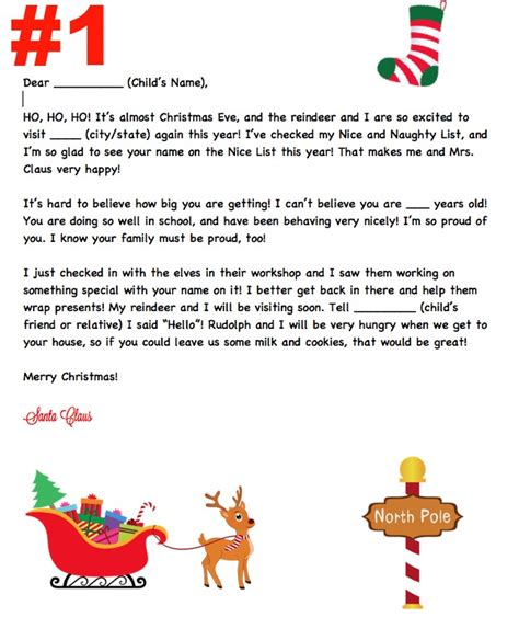 printable personalized santa letters personalized santa letters to child search results