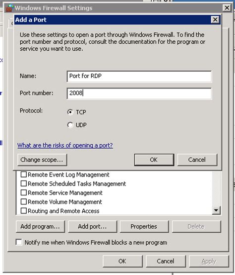 change rdp server 2003 remote desktop protocol settings in windows server 2003