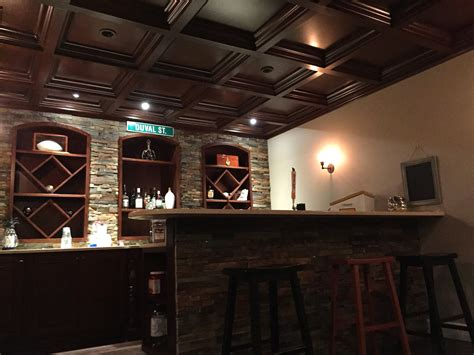 basement bars woodgrid 174 coffered ceilings by midwestern