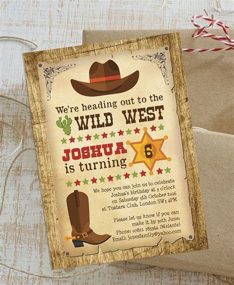 25 Best Ideas About Cowboy Party Invitations On Pinterest Wild West Theme Wild West Party West Invitation Template