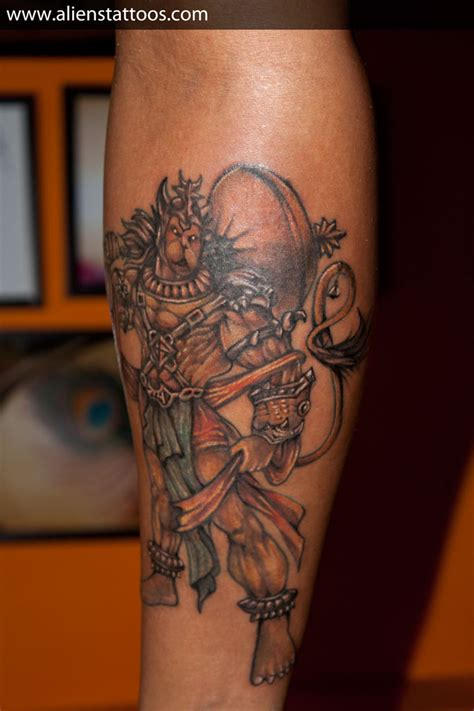 lord hanuman tattoo inked by sunny at aliens tattoo mumbai