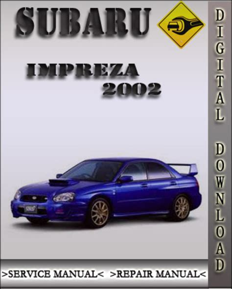 2002 Subaru Impreza Factory Service Repair Manual