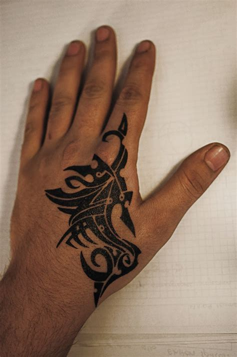 hand tattoo for men simple in for and