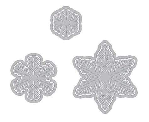 Make Fancy Paper Snowflakes - arts fancy die paper layering snowflakes