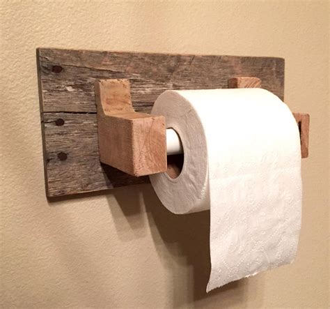 toilet paper holder wood rustic wood pallet furniture toilet paper holder reclaimed