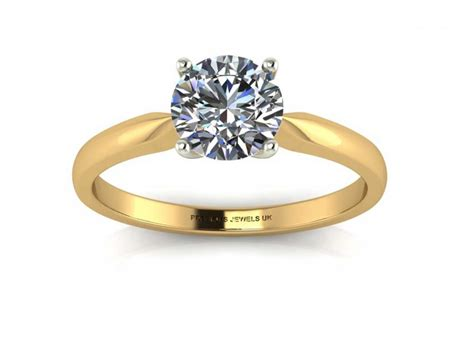 Single Gold Engagement Rings by 18ct Yellow Gold Single Engagement Ring F Si