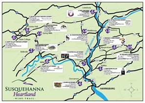 susquehanna heartland wine trail map of wine trail