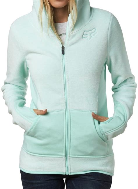 fox motocross sweatshirts fox racing womens sleet lush fleece zip up motocross hoody