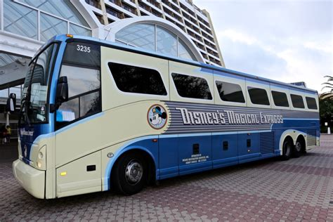 theme park express tx2 bus disney s contemporary resort walt disney world