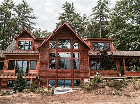 home builders in moultonborough nh new adirondack waterfront home on lake winnipesaukeelake