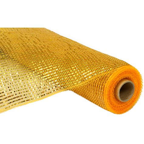 21 quot poly deco mesh deluxe wide foil gold re104153