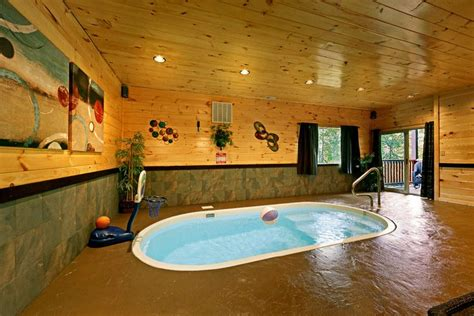 Cottages To Rent With Indoor Pool by Pigeon Forge Area Cabin With Indoor Pool