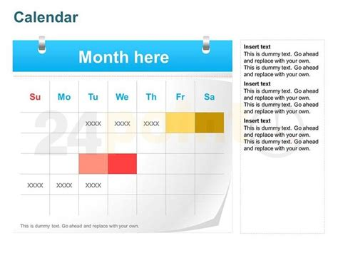 12 Best Templates And Slides Images On Pinterest Free Powerpoint Calendar Templates