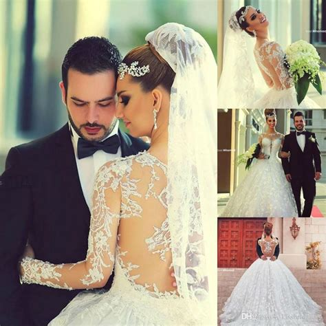 Myriam Fares 2015 Wedding Dresses Vintage Lace Sheer