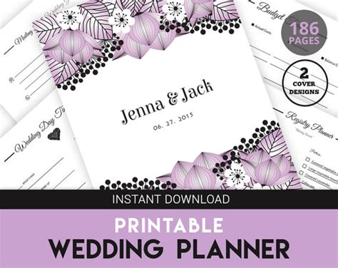 free printable wedding planning kit printable wedding planner kit printable pdf wedding by