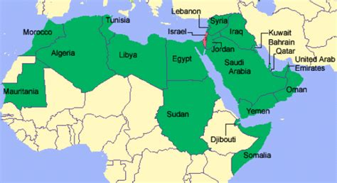 map of arab countries copy muhammad just treatment of christians jews