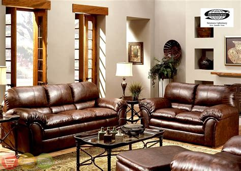 room furniture leather classic pcs: geneva classic brown leather living room couch set s l soflex