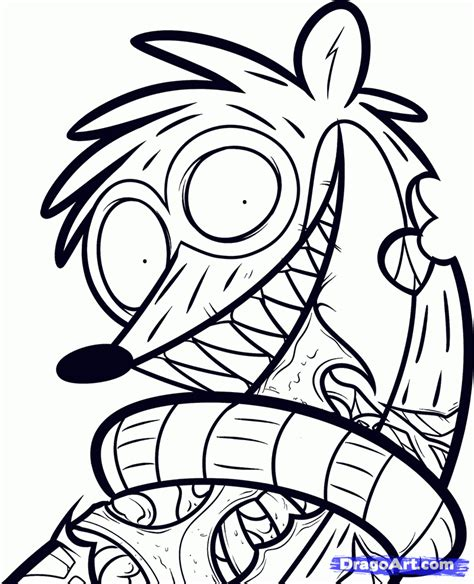 printable regular show mucle man coloring pages free coloring pages of rigby from regular show