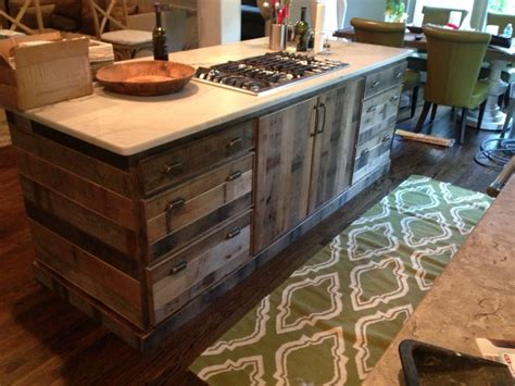 Reclaimed Wood Cabinets For Kitchen Barnwood Siding Rustic Kitchen By Reclaimed Lumber And Beams