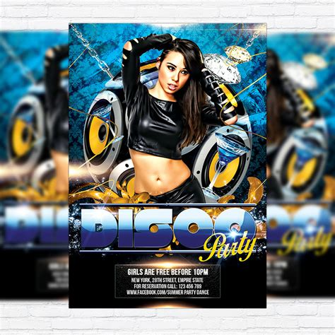 disco flyer template disco free club and flyer psd template