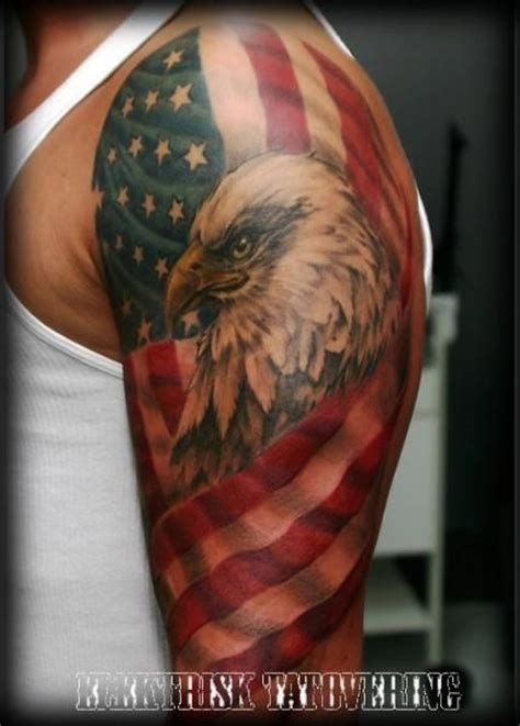 american flag tattoo shoulder 1000 ideas about american flag tattoos on