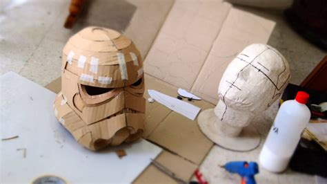 How To Make A Paper Stormtrooper Helmet - 75 stormtrooper helmet diy part 1 cardboard jaw
