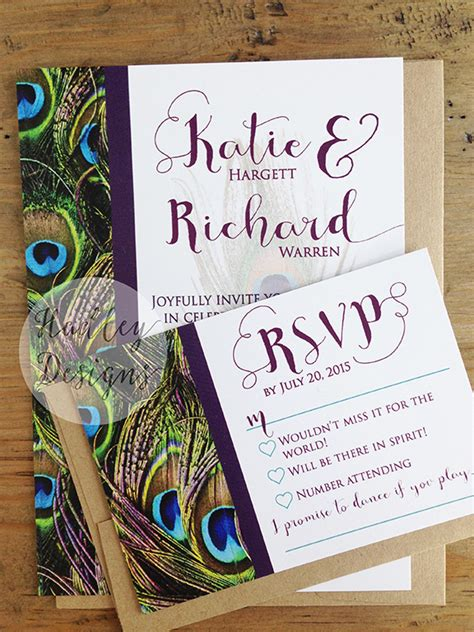 Peacock Wedding Invitations by Hadley Designs Peacock Wedding Invitations