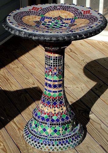 mosaic birdbath httplometscom