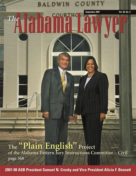 alabama pattern jury instructions civil lawyer sept 2007 web by alabama state bar association issuu