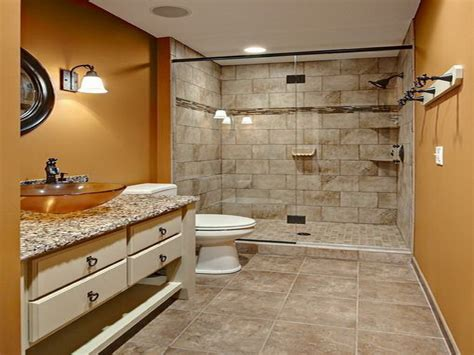 bathroom brick orange wall tiny remodel bathroom ideas