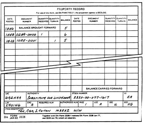 Army Personal Property Record 26 Images Of Army Accountability Sheet Template Infovia Net