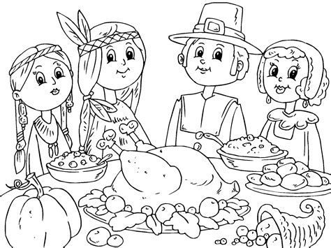 thanksgiving day coloring pages crafts and worksheets