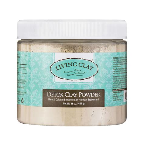 Detox Easy 123 by Living Clay Calcium Bentonite Detox Clay Powder