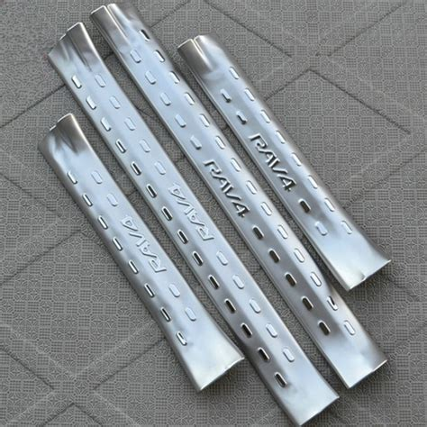 high quality 4 pieces stainless steel inside door sill scuff plate panel kick step protector