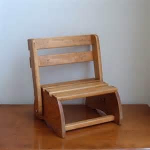vintage folding child wood chair step stool by imsovintage