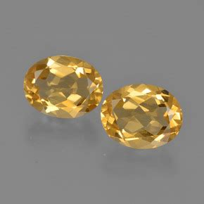 Citrine 2 7ct yellow citrine 1 7ct 2 pcs oval from brazil and