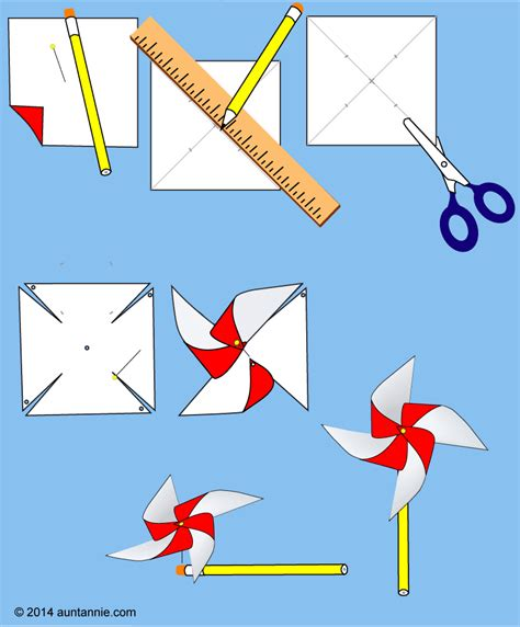 Make A Paper Windmill - how to make an easy pinwheel friday craft projects