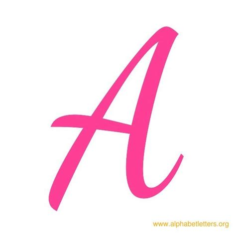 printable letters in pink printable cursive alphabet letters for school alphabet