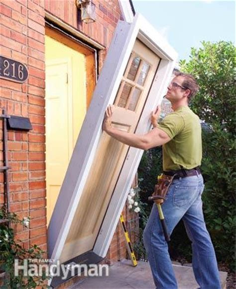 How To Replace An Exterior Door The Family Handyman Install A Prehung Exterior Door