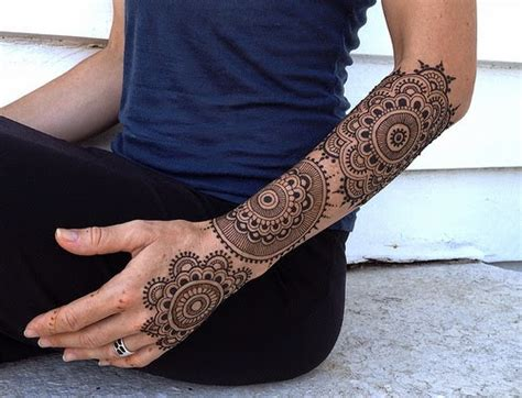 henna sleeve tattoo henna mehndi designs for and