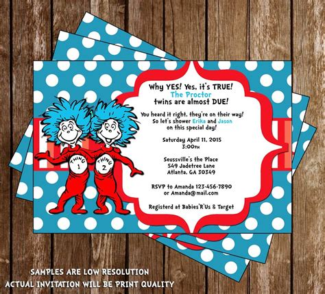 thing 1 and thing 2 baby shower invitations novel concept designs thing 1 and thing 2 baby
