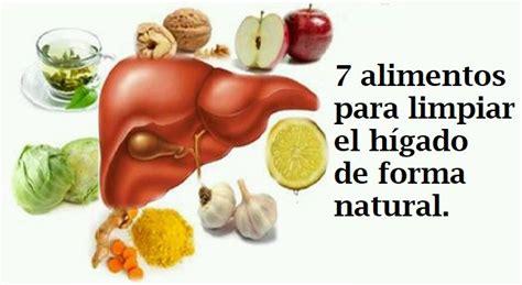 alimentos que ayudan a limpiar el higado 7 alimentos para limpiar el h 237 gado naturalmente
