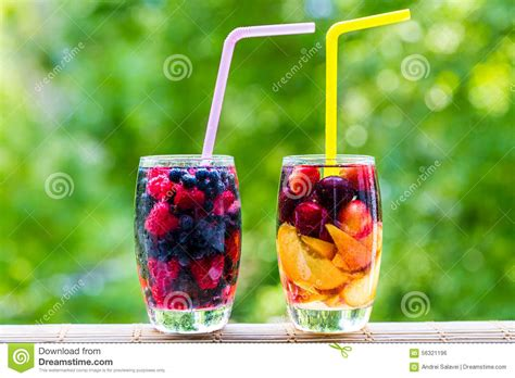 Detox Diet Foggy Blurry by Detox Fruit Berry Water Coctail Stock Photo Image 56321196