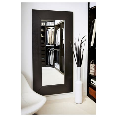ikea mirrors mongstad mirror black brown 94x190 cm ikea